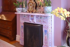 painted Victorian fireplace