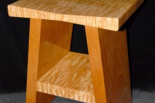 quilted maple stool
