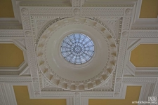 New ceiling dome in a Classical pavillion