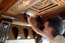 Painted ceiling restoration