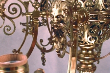 Bradley and Hubbard chandelier detail