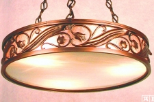 Floral ring chandelier