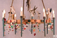 Sewing circle chandelier