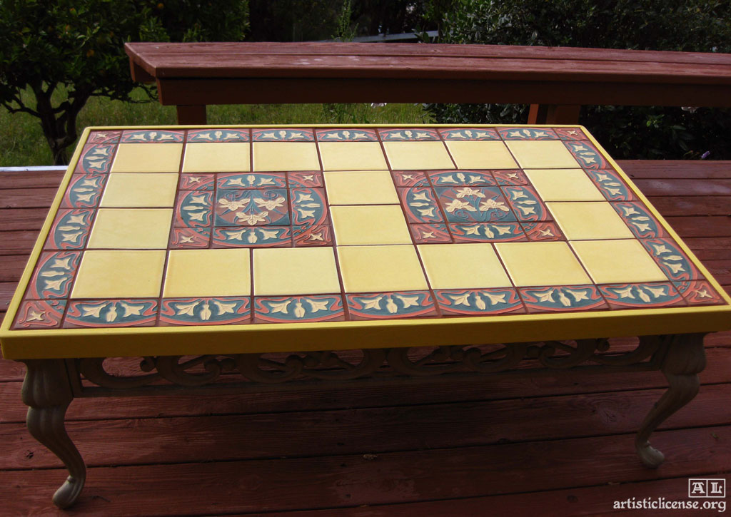 Tile top patio table terrace table marceladick 9 piece patio set outdoor dining table oval - Basics mosaic tiles patios ...