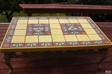 custom tiled tabletop