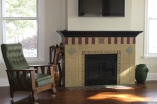 handmade tile fireplace