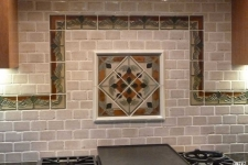 tiled backsplash
