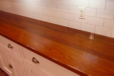 teak hardwood countertop