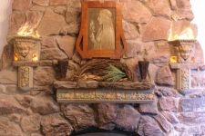Rookwood  Pottery tile fireplace
