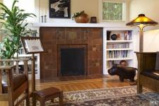 Motawi tile fireplace