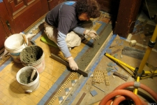 historic tile installation