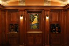 wine cellar art glass window