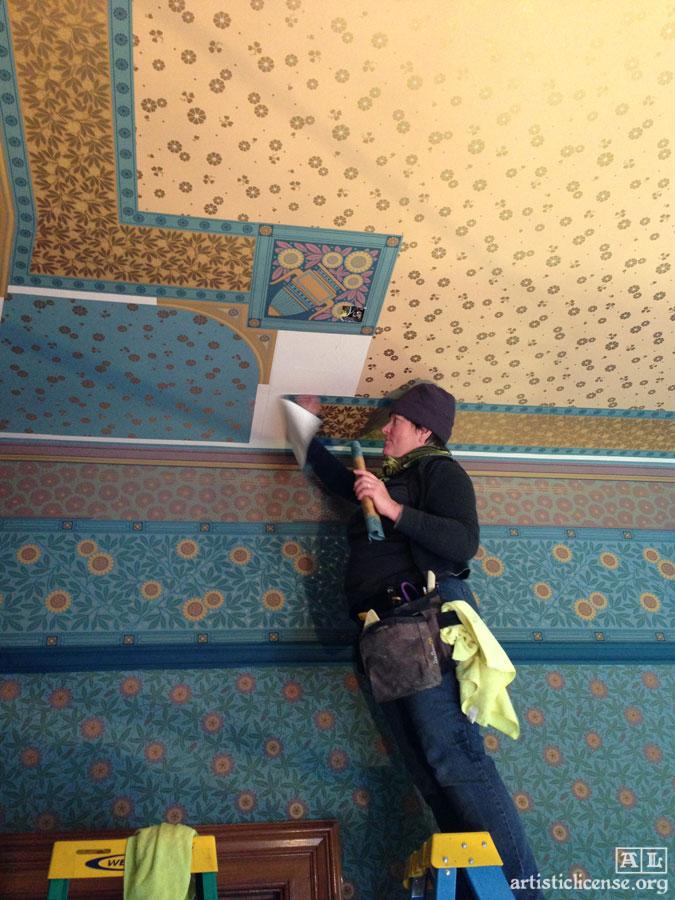 Bradbury Wallpaper installation